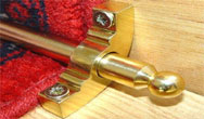 SOLID BRASS Unhinged Brackets for STAIR RUNNERS (Brass finishes) Stair Rods