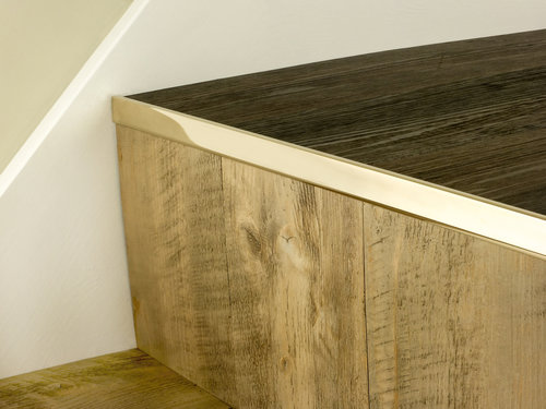 Stair Nose LVT No Bull Brass Finishes